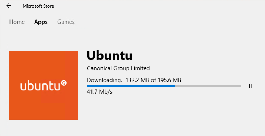 Ubuntu on Windows Microsoft Store download