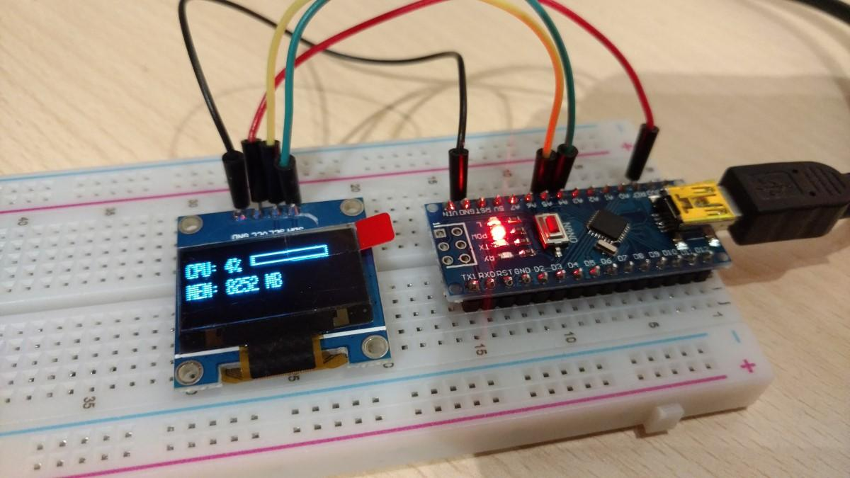 arduino cpu and ram display