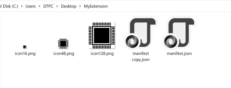 chrome extension icons