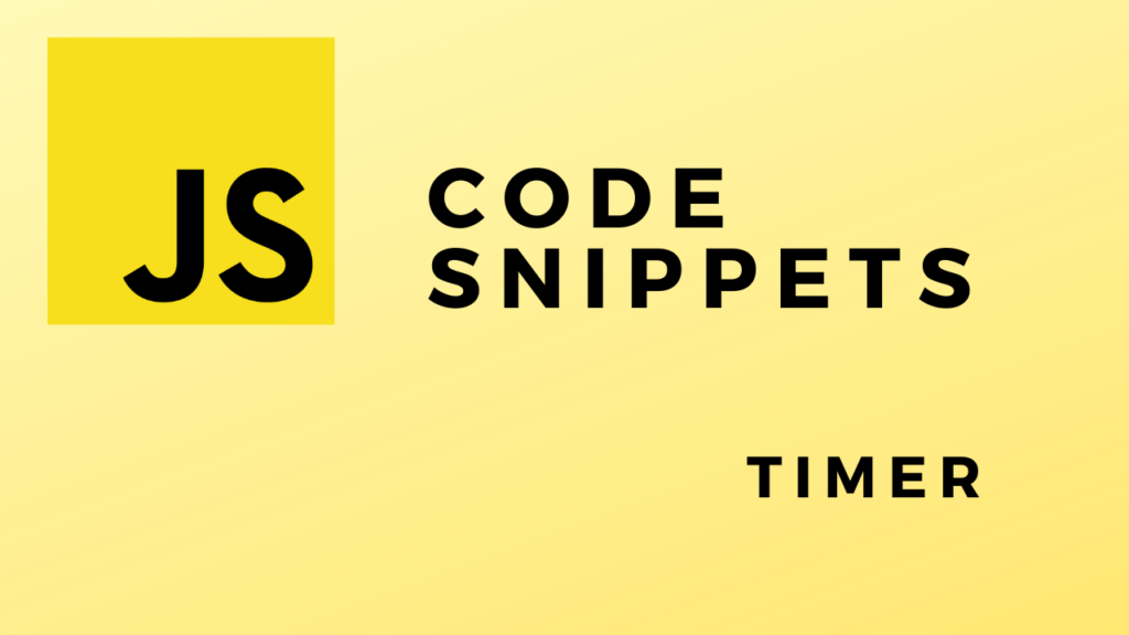 Code Snippets Timer